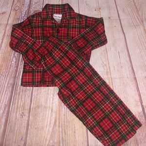 Pillow pals plaid pajamas kids 3T